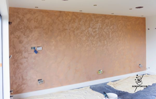 polished plaster in slough